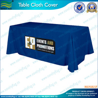 100% polyester Custom logos or design table cloth