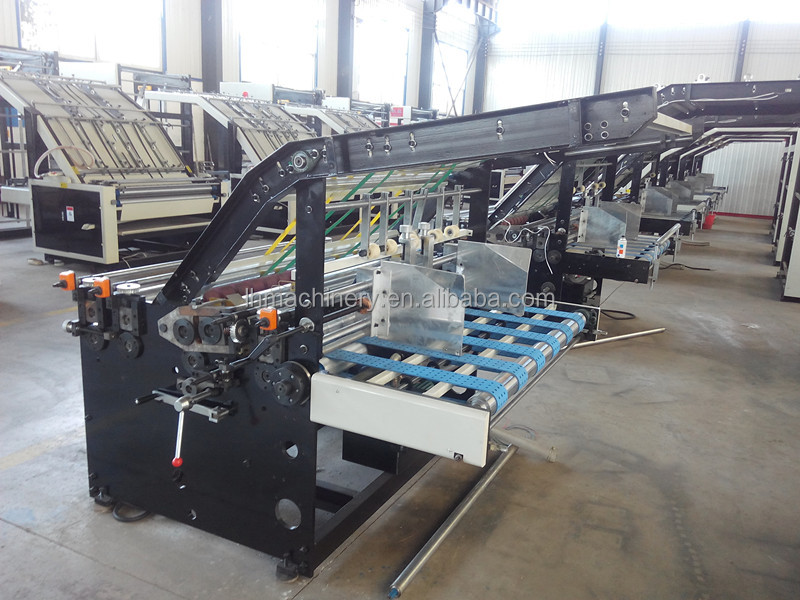 Safe control design easy operation semi-automatic cardboard flute laminating machine / paper mounting machine