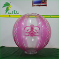 Hot Sale Clear Transparent Inflatbale Beach Ball , Pink Color Beach Balloon With Base For Sale