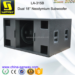 LA-315B Dual 18 Inch Line Array Speaker Box Design