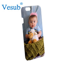 Popular Bulk Decorative 5 Inch White Glossy Plastic 3D Sublimation Blank Cell Phone Case for iPhone 6s
