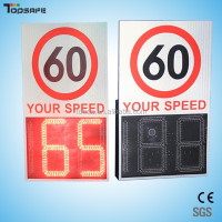control warning solar LED signs Radar speed detector