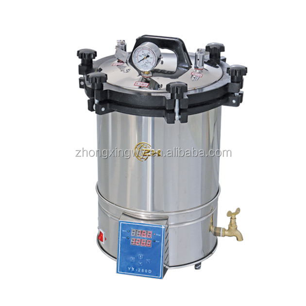 24L Portable Stainless Steel Table Top Rapid Steam Sterilizer (YX-280B)