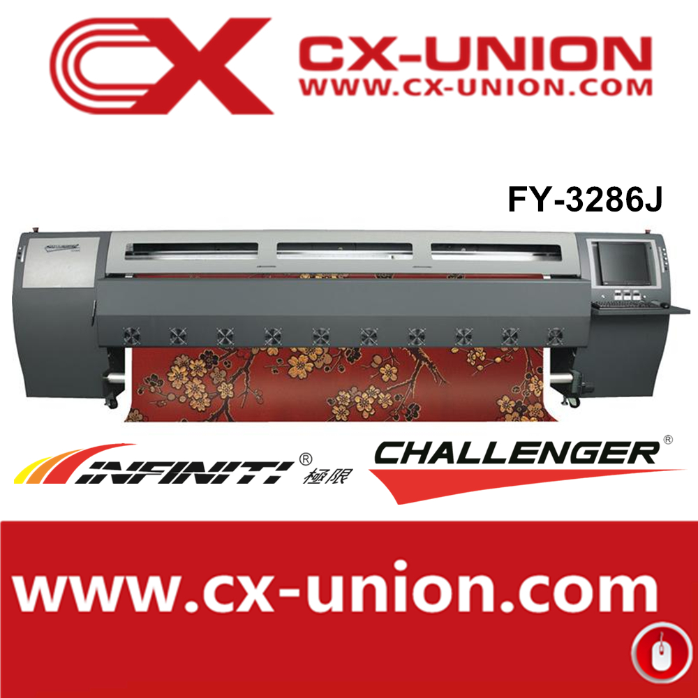 guangzhou stock Infinity/chanllenger FY-3286J Digital Large format Flex Banner printer with 6 spt508gs printhead
