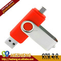 Low Price Swivel OTG Mobile Phone USB Flash Stick 8GB For Samsung