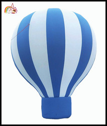 Inflatable green & white light balloon 4 advertising promotion / cheap inflatable advertising balloons