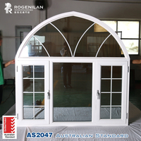 Rogenilan clear glass swing design window with white decorative window strips