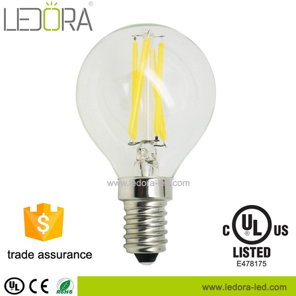 P45 E14 E27 Base Led Filament bulb , 4W 450lm, 2700K CCT china suppliers