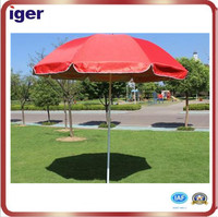 red straight bar Outdoor umbrella advertising umbrella with valance