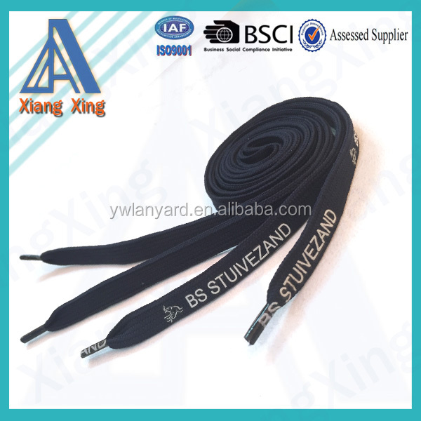 Wholesale Colored Polyester Shoe Lace , Custom Shoe Lace Print