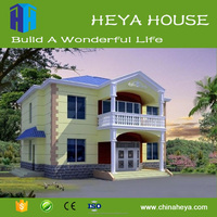 Steel Small house for 3 people family with well design plans,light steel structure prefab houses