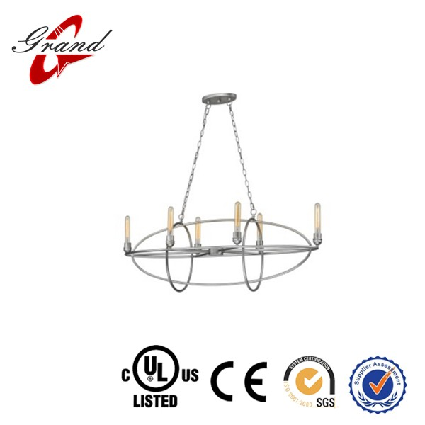 6 light Modern chandelier with UL &CE listed