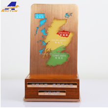 Top grade table Region wine map acrylic display stand