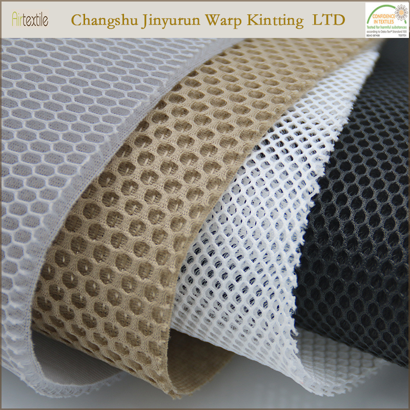 AR45 100% polyester honeycomb spacer mesh fabric 3mm thick for backpack