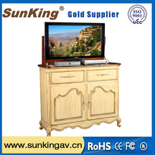 32 inch tv lift with remote control for furniture and hotel bed tv lift cabinets