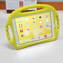 silicone case shockproof kids cute case with handle for ipad mini