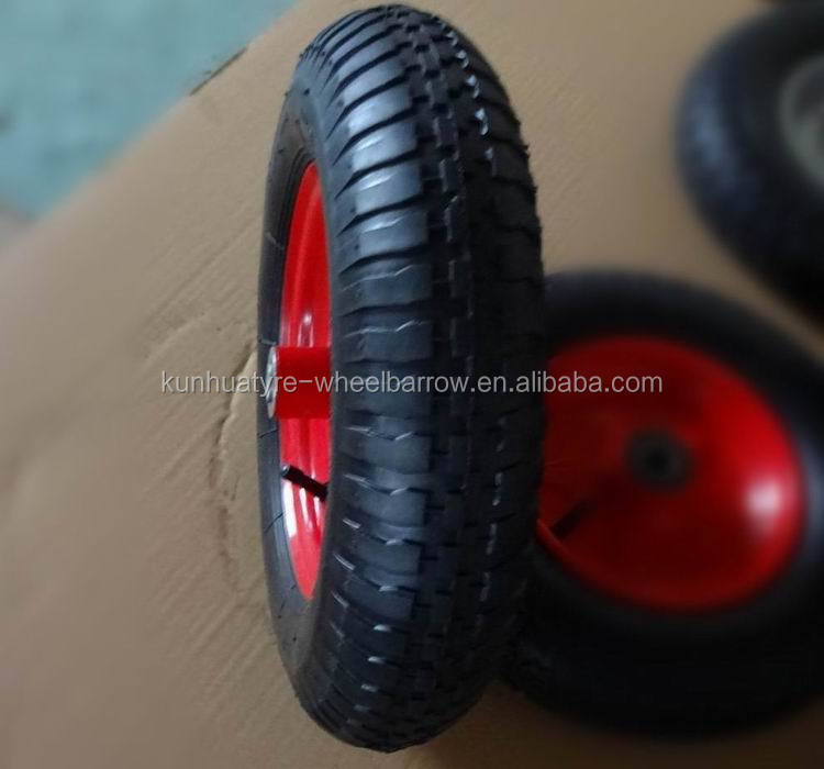 high quality competitive price 3.50-8 wheel barrow parts 14 inch wheel with axle