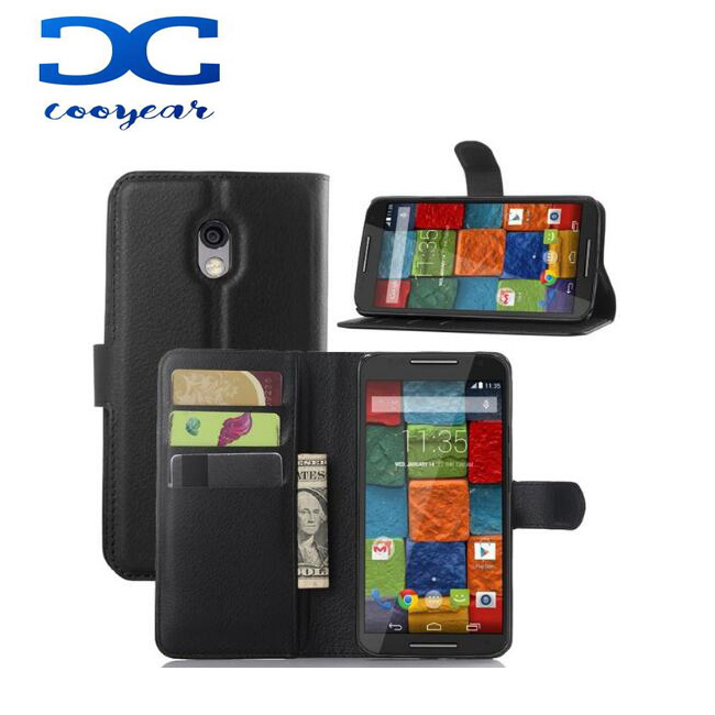 Wallet Phone Cover for Motorola Moto X Play X1 X2 E1 E2 xt1254 XT1225 Case with Card Slots & Stand