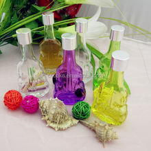 New product empty violin shape 50ml perfume glass bottle,small cute candy glass jar,wishing glass vial with 17mm neck screw cap