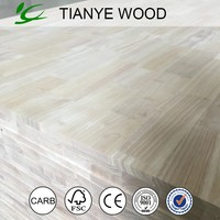 Melamine laminated rubber wood finger joint board