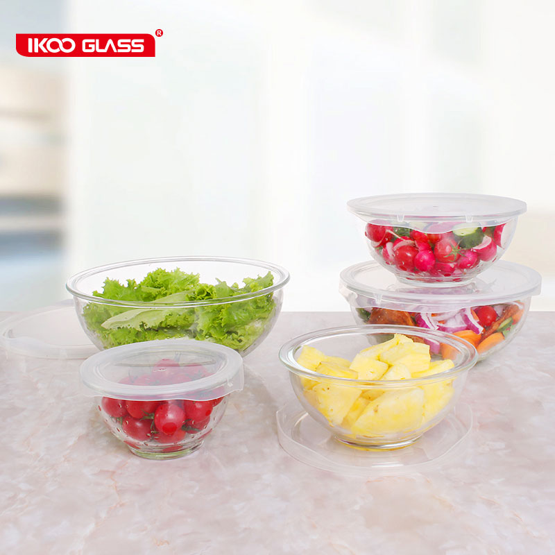 Hot selling high borosilicate pyrex glass mixing bowl