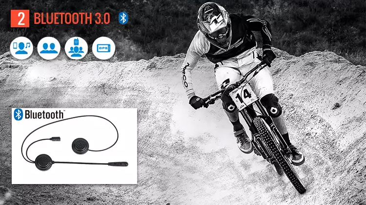 Ejeas E1 latest wireless hands free motorcycle earphone bluetooth helmet headset