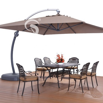 High Quality Luxury 3.5*3.5m Patio Garden Windproof Big Bend Umbrella