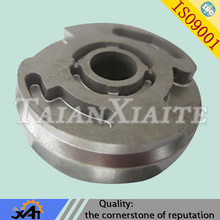 Custom alloy steel oil distribution disc for braking system