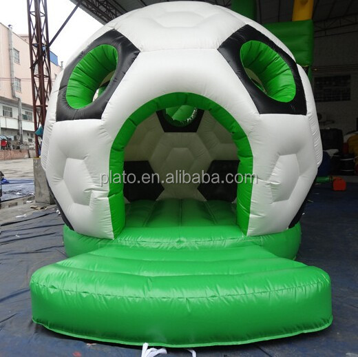 Attractive giant inflatable football dome castle /outdoor inflatable jumping soccer bounce house for human