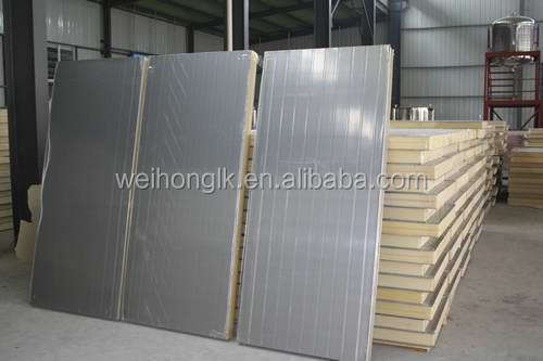 pu cold room color steel sandwich plate for wall