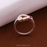 2015 Bohemian style small ruby stone 925 sterling silver ring