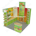 Food 10 by 10 Aluminium Fabrics Trade Show Display with Shelves