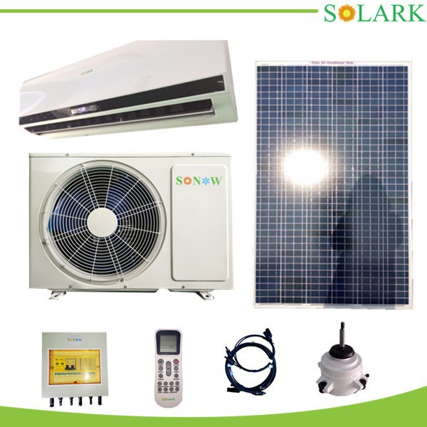 1.5HP 100% Hibrid solar powered air conditioners/no need battery