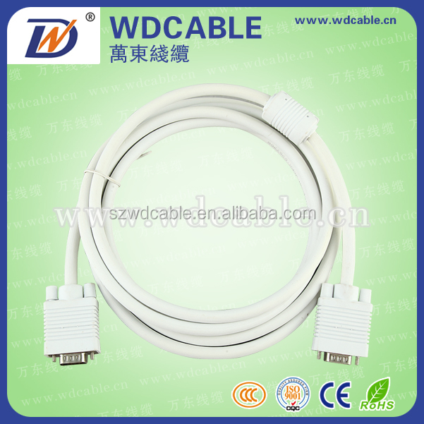 cable,computer cable,DB15, 3+5 Male to Male VGA Cable,china factory