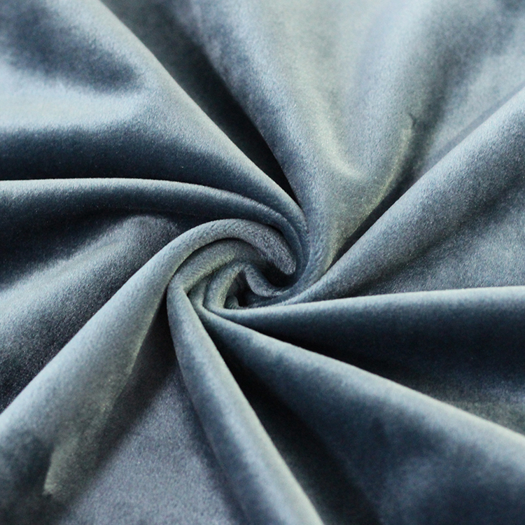 blue color high <strong>quality</strong> soft feeling polyester velvet fabric for pillow