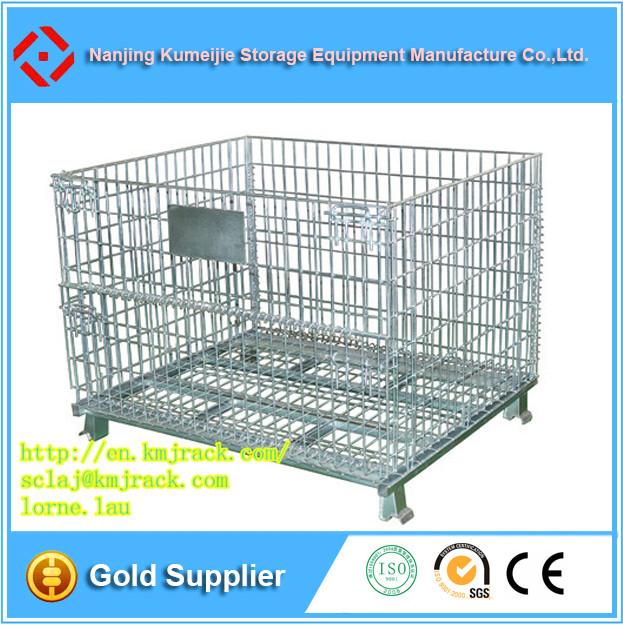Heavy Duty Foldable Iron Mesh Storage Boxes