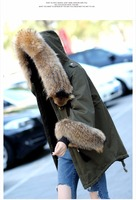 Wool tank in the long parka with raccoon fur collar161211-13