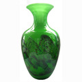 Chinese style antique green color Murano glass vase