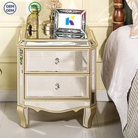 Bedroom furniture handmade mirrored nightstand/mirrored bedside table