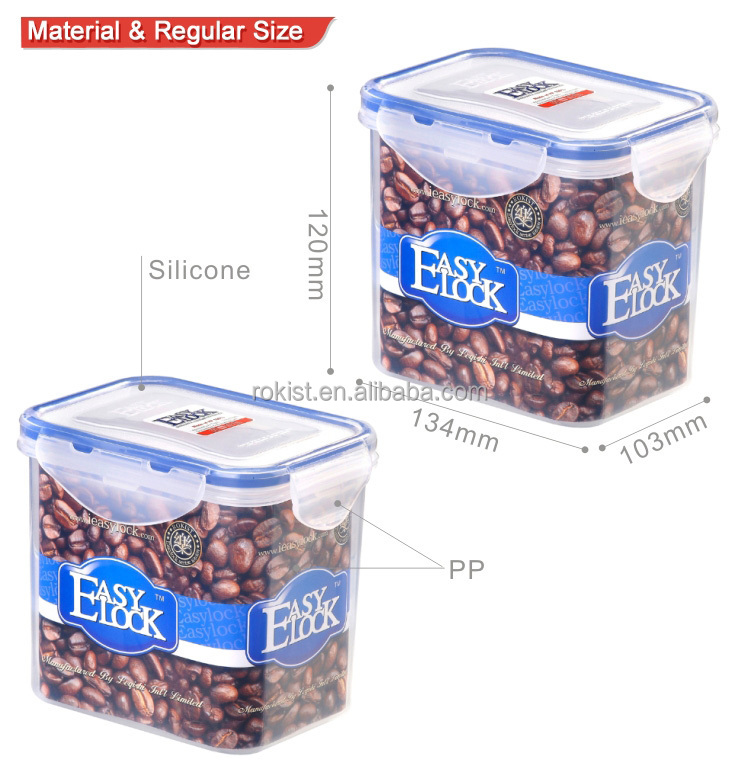 food grade PP watertight wholesale coffee storage container