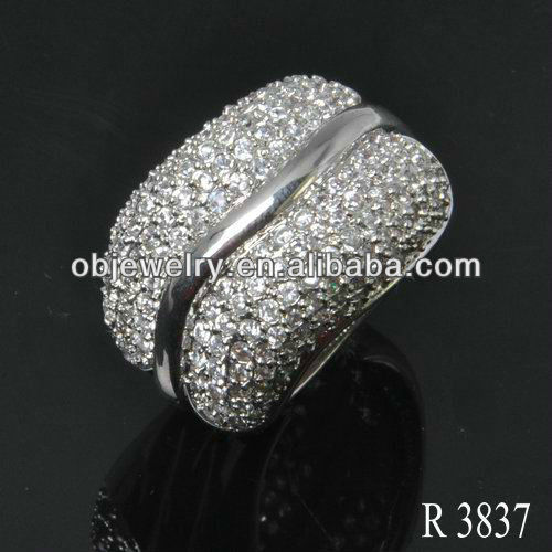 Gemstone silver jewelry with white CZ