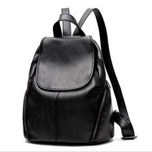 cy10299a Leisure basic PU leather woman backpack casual girls travel bagpack student school 2017