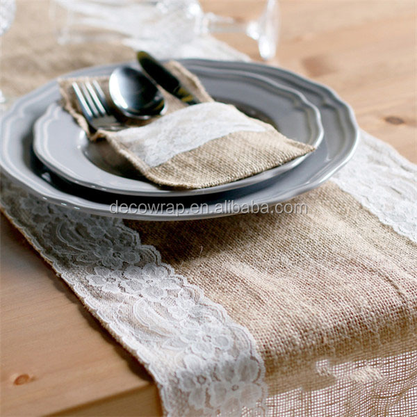 Cheap Wholesale Burlap Table Runner 30x275cm Jute BurlapTable Runner