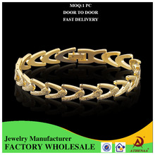 Girls Bracelet Hand 18k Gold Plated Love Metal Chain Wholesale Costume Jewelry
