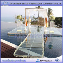 Aluminum clear acrylic glass decoration wedding stage