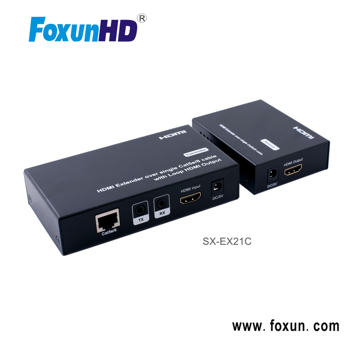 Looping HDMI Output in transmitter 50m Extender over single Cat5e/6