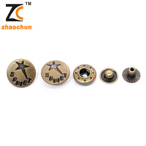Nickle Free Fancy Round Brass Metal Snap Button for Denim Jeans