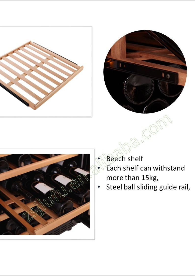 dual zone beech shelf Aluminium alloy door frame best wine coolers dual zone