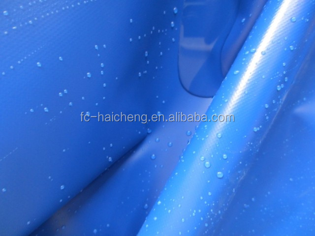 Blue PVC tarpaulin for truck /roof/pool/boat cover