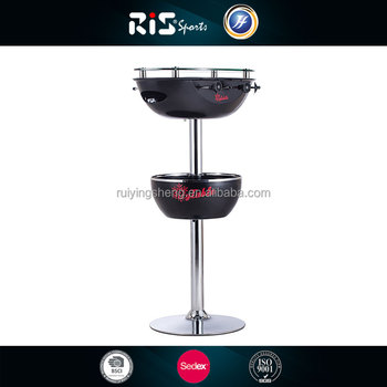 Bar table with drink cooler and soccer game table
